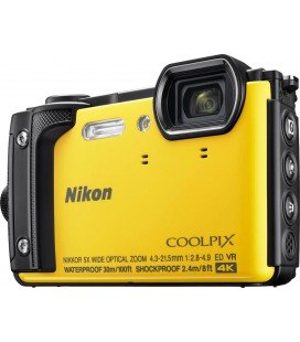 NIKON W300 COOLPIX SUBMERGIBLE 30MTS. AMARILLA
