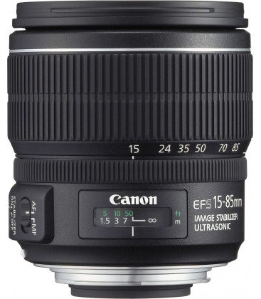 CANON EF-S 15-85mm f/3.5-5.6 IS USM + FREE 1 an VIP MAINTENANCE SERPLUS CANON