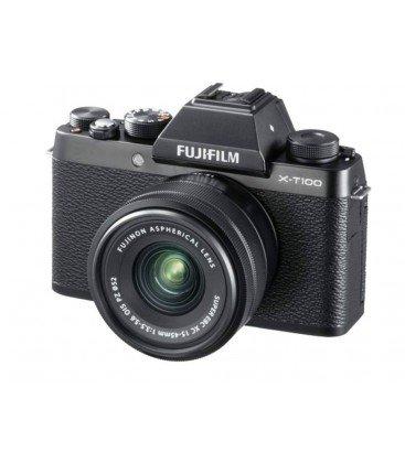 FUJIFILM X-T100 + 15-45MM NOIR + 100 EUROS DE RÉDUCTION DIRECTE