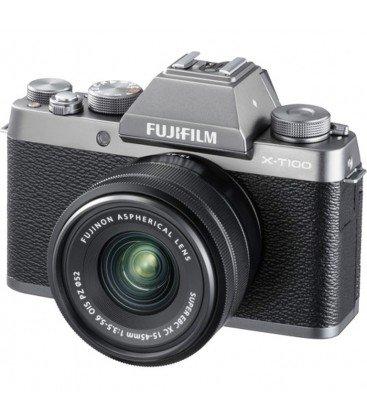 FUJIFILM X-T100 + 15-45MM PREVENTA - PLATA