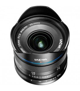 LAOWA 7.5MM F/2 MFT - ULTRA LIGHT VERSION (150gms.) SCHWARZ