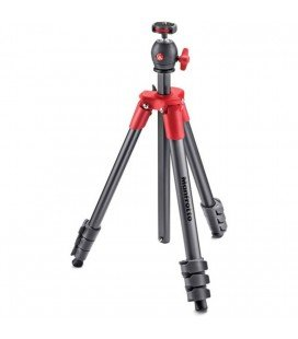 MANFROTTO COMPACT LIGHT TRIPOD WITH RED PATELLA