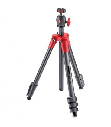MANFROTTO COMPACT LIGHT TRIPODE CON ROTULA ROJO
