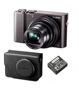 PANASONIC LUMIX TZ100 TITANIUM PREMIUM KIT WITH BATTERY AND ORIGINAL CASE