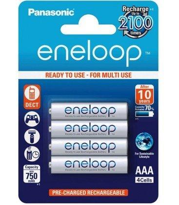 SANYO ENELOOP BLISTER 4 PILAS RECARGABLES AAA/750mA.