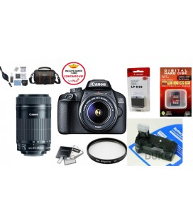 CANON EOS 4000D  PACK ADVANCED + FREE 1 YEAR MAINTENANCE VIP SERPLUS CANON