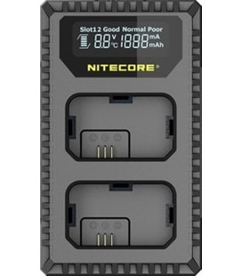 NITECORE USN1 CARICABATTERIE SONY NP-FW50 DUAL (2 BATTERIE 1 USB)