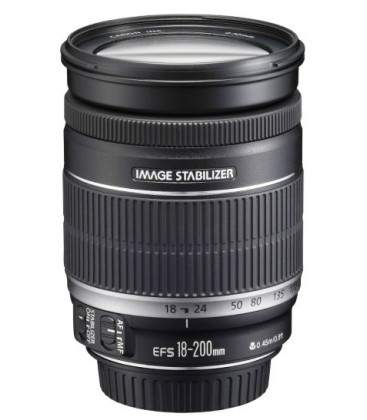 CANON EF-S 18-200mm f/3.5-5.6 IS + GRATIS 1 ANNO VIP MAINTENANCE SERPLUS CANON DI MANUTENZIONE VIP