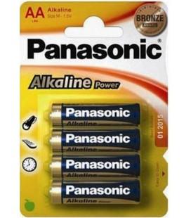 PANASONIC LR6 AA PACK 4 PILAS ALCALINAS
