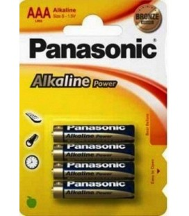 PANASONIC LR3 AAA PACK 4 PILAS ALCALINAS