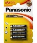 PANASONIC LR3 AAA PACK 4 piles ALKALINAS