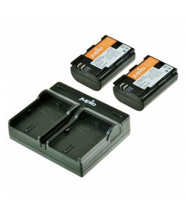JUPIO CARGADOR DOBLE + 2 LP-E6N KIT REF. CCA1004