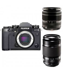 FUJIFILM XT-3 + 18-55MM + 55-200MM KIT NERO