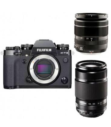 FUJIFILM XT-3 + 18-55MM + 55-200MM BLACK KIT