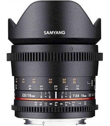 SAMYANG 16MM T2.6 ED AS UMC VDSLR II CANON EF-S