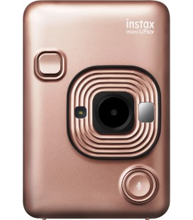 FUJIFILM CAMERA INSTAX MINI LIPLAY DORADO ROSA