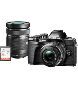 OLYMPUS E-M10 Mark III DZK IIR  (1442 IIR + 40150R) NEGRA + FUNDA + 16GB SD UHS-I KIT EXCLUSIVO SOLO CANARIAS