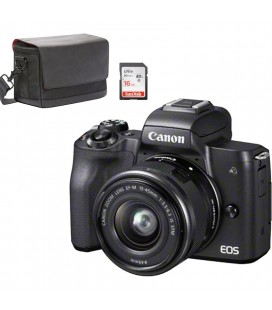 CANON KIT M50 + 15-45MM + FUNDA CANON + SD 16GB NEGRA