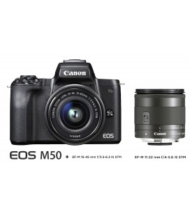 CANON M50 KIT ANGULAR - EF-M15-45 + EF-M 11-22MM f:4-5.6 IS STM