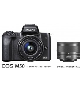 CANON M50 KIT MACRO - EF-M 15-45 + EF-M 28MM f:3.5 IS STM
