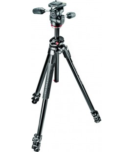 MANFROTTO MK290DUA3-3W TRIPOD ALU 3 SECTIONS + MH804-3W LABEL