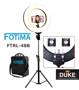 FOTIMA LED RING KIT LICHT BICOLOR FTRL-48 + TRIPODE REF. 220074