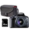 CANON EOS 2000D + 18-55MM +FUNDA SB13 +16GB