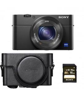SONY APPAREIL PHOTO RX100 M4 + ÉTUI + CARTE SONY 16GB / 90 M / S
