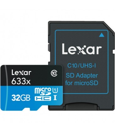 LEXAR MICRO SD 32GB 95MB/S 633x UHS-I