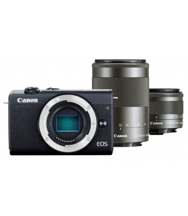 CANON EOS M200 + 15-45 MM IS STM + 55-200 MM IS STM - NEGRO