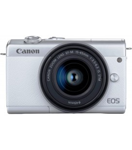 CANON EOS M200 + EF 15-45MM f/3.5-6.3 IS STM - BLANCO