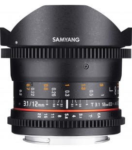 SAMYANG 12mm T3.1 VDSLR ED AS NCS MICRO 4/3