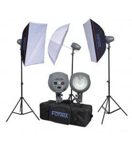 FOTIMA FTF-200 (3 X 200W) KIT + KIT DE ACCESORIOS