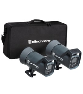 ELINCHROM ELC 500/500 KIT WITH 16 CM REFLECTOR AND BAG REF: 20737
