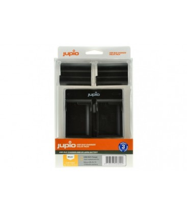 JUPIO KIT CARGADOR DUAL USB + 2 BATERIAS EN-EL15 1700MAH (CNI10049)