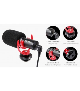 FEELWORLD VLOG MICROPHONE FM8