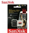 SANDISK TARJETA EXTREME MICRO SD 64GB 170M/S