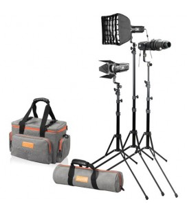 GODOX FOCUSING LED LIGHT S30 (3 LUCES MÁS ACCESORIOS)