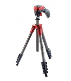 MANFROTTO TRIPODE COMPACT ACTION ROJO