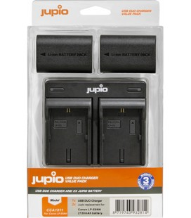CHARGEUR DOUBLE JUPIO + 2 BATTERIES LP-E6NH REF. CCA1011
