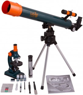 KIT MICROSCOPE + TÉLESCOPE LEVENHUK labZZ MT2