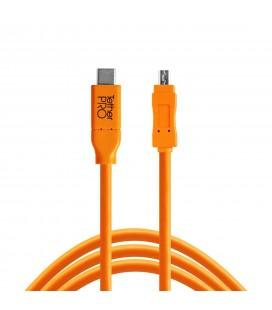 TETHER TOOLS USB-C A MICRO-B 3.0 CABLE RECTO NARANJA