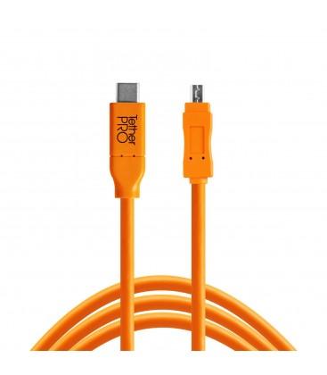 TETHER TOOLS USB-C A MICRO-B 3.0 CAVO DIRITTO ARANCIO