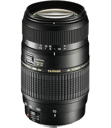 TAMRON 70-300mm F/4-5,6 Di LD AF MACRO 1:2 FOR CANON + FILTER 62MM UV TAMRON