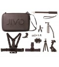 JIVO GO KIT SUITCASE FOR GOPRO AND ACTION CAMS (11 PIECES)
