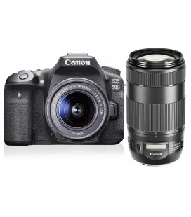 CANON EOS 90D + EF-S 18-55 mm 1: 3,5-5,6 IS STM + 70-300 mm IS II USM NANO