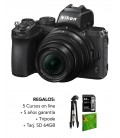 NIKON Z50 +16-50mm VR F3.5-6.3 + Kit: SDXC 64GB X1000  + TRIPODE + 5 CURSOS