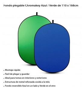 FOTIMA FONDO PLEGABLE 110X168CM AZUL/VERDE CHROMA