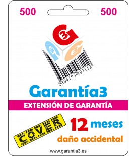 GARANTÍA3 COVER HASTA 500 EUROS