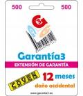 GARANZIA 3 COPERTURA FINO A 500 EURO - 12 MESI DANNI ACCIDENTALI